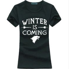 Game of Thrones *Winter Is Coming* Printed T-Shirt Women