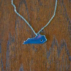 Kentucky State Love Necklace from The Kentucky Shop. Show your state love.