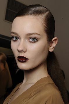 Backstage at Gucci. Makeup by Pat McGrath.