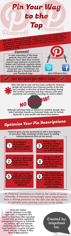 Pin Your Way to the Top. #SEO #Pinterest #Infographic