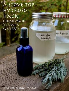 "Make fragrant herbal (""flower water"") that cost $5/ounce, with this stove top hack"