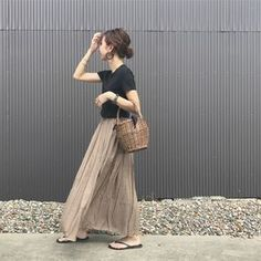 Women S Fashion Boutique Cheap Code: 5447795673 Fall Fashion Outfits, Fashion 2017, Love Fashion, Korean Fashion, Fashion Beauty, Autumn Fashion, Womens Fashion, Maxi Skirt Outfits, Japan Fashion