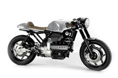 What a renaissance the good ol' BMW K-Series is having of late. From humble beginnings as the laughing-stock of the second-hand bike scene, the model has enjoyed a slow and steady rise in pop… Scrambler Motorcycle, Bmw Motorcycles, Vintage Motorcycles, Custom Motorcycles, Moto Cafe, Cafe Bike, Cafe Racer Bikes, Cafe Racer Seat, Cafe Racer Build