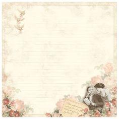 Papier scrap From my heart II - Bottom of my heart  Chérie M À l'unité, sans acide ni lignine de la marque Pion Design Recto-Verso 30,5 x 30,5 cm