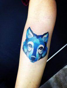 Blue ink wolf