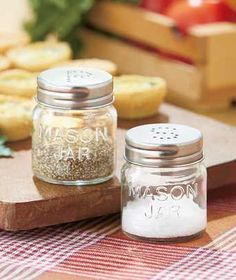 Mason Jar Salt and Pepper Shakers- I found this at LTD Commodities CHEAP!