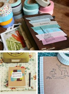 Diarios y cuadernos decorados con washi tape #2