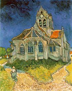 A igreja de Auvers-sur-Oise (1890), de Vincent Van Gogh, Musée d'Orsay, Paris. / L'église d'Auvers-sur-Oise - Expressionismo – Wikipédia, a enciclopédia livre