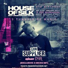 Sam Supplier -Live 02:00 - 03:00 - House of Silk - 4th Birthday @ GSS Warehouse - Sat 21st Jan 2017 by DJ S (House of  Silk) on SoundCloud