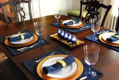 #hanukkah ~ I like setting a pretty table. I like setting a pretty table for the holidays. I sometimes like setting a pretty table more than I like cooking the actual meal. And sometimes I don't. It's good to ...