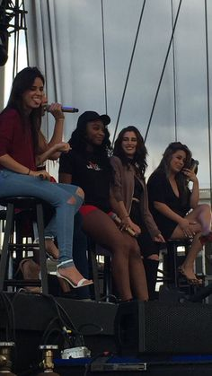 Is Lauren ever not looking at Camila? lol. Bonus points because Camila's tongue is out