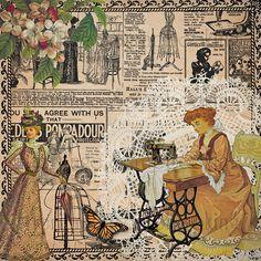 Visit the post for more. Collage Vintage, Decoupage Vintage, Vintage Paper, Vintage Prints, Paper Collage Art, Collage Art Mixed Media, Vintage Pictures, Vintage Images, Glue Book