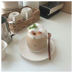 g e o r g i a n a #korean #coffee #shop #aesthetic coffee milk tea korean food drink aesthetic yummy soft minimalistic cute kawaii g e o r g i a n a : m u n c h & s l u r p
