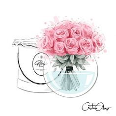 A pleasure to work with the luxury floral services company .🌸❤ In the coming days I will show you many more illustrations… Chanel Art, Chanel Decor, Arte Fashion, Spring Art, The Day Will Come, Pics Art, Amazing Flowers, Flower Art, Watercolor Art
