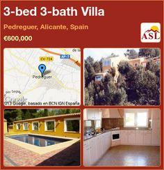 3-bed 3-bath Villa in Pedreguer, Alicante, Spain ►€600,000 #PropertyForSaleInSpain