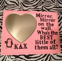 DIY: Cute Kappa Delta Chi craft I made for my little :) kdchi sorority. Greek. Pink.