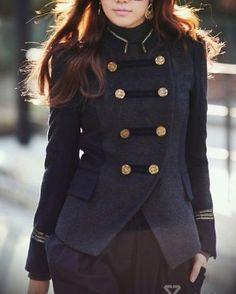 Navy military jacket.