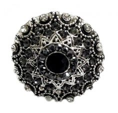 Antiker Ring Schwarz Silber