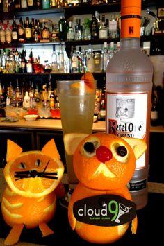 Orange vodka and friends