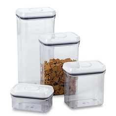 Maximize space with this efficient OXO Good Grips Rectangular Food Storage Pop Container. The airtight seal will keep things fresh with the simple press of a button. Food Canisters, Storage Canisters, Laundry Room Bathroom, Small Bathroom Storage, Laundry Rooms, Bathrooms, Glass Food Storage, Food Storage Containers, Kitchen Counter Storage