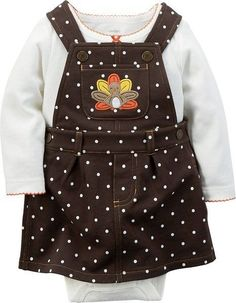 cf9e5b1c6dcb86 Carters Baby Girls Thanksgiving Jumper Set 18 Months Brown Dot * Learn more  by visiting the image link.