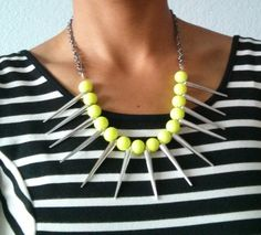 Neon Tribal Necklace