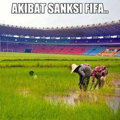 Akibat sanksi FIFA - #Meme - http://www.indomeme.com/meme/akibat-sanksi-fifa/