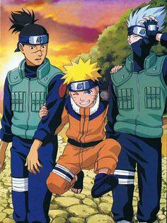 Kakashi, Naruto e Iruka