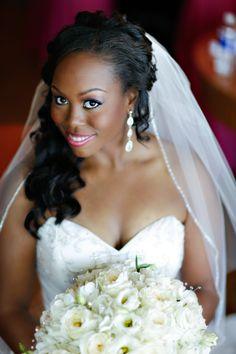 Platinum Wedding in Leesburg, Virginia #naturalbride #hairandmakeup #wedding