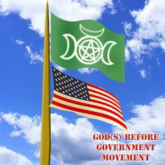 Tips for Living Wicca: Tips for Living Wicca: Hang Your Flag This Way