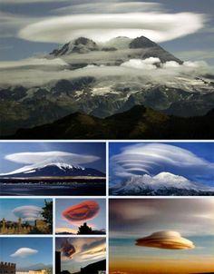 Nubes lenticulares, Preciosas formaciones naturales...