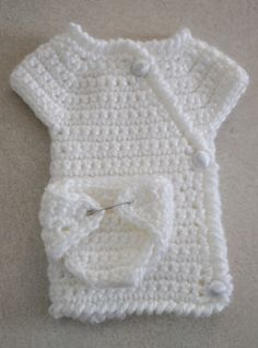 Crochet Angel Baby Diaper Pattern and Kimono
