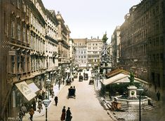 The Graben, Vienna, Austria-Hungary, ca. Vienna Austria, Old London, Past Life, Live In The Now, Old City, Vintage Photography, Vintage Postcards, Hungary, Old World