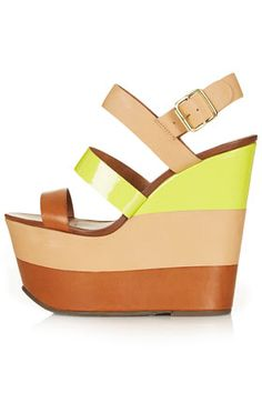TOPSHOP Wanda Leather Strip Wedges Get it here: http://rstyle.me/~BpOJ