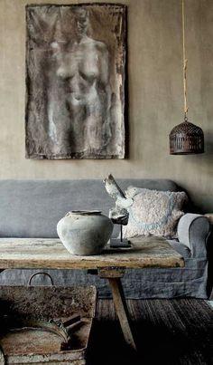 Taidetta ja rustiikkiseen tyyliin sisustettu koti - Art and a Rustic Home     Voorhaven 7                                                 K...