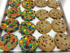 Satisfy your inner cookie monster with our m&ms and chocolate chip cookies!