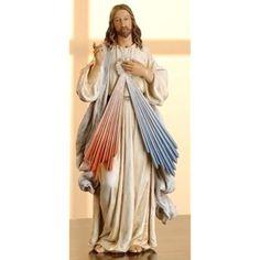 "10"" Divine Mercy Jesus Statue Christian Religious Figurine Hand Paint Home Decor #JosephStudio"