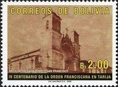 Stamp: 400 Years of the Franciscan Order in Tarija (Bolivia) (Religions & beliefs) Mi:BO 1641,Sn:BO 1272,WAD:BO021.06