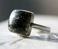 Reticulated Quartz Sterling Silver Ring by TownHallStudio on Etsy