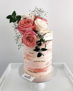 47 Most Beautiful Wedding Cakes For Your Wedding! - Page 11 of 47 - Cake decorating - Bolo Beautiful Wedding Cakes, Beautiful Cakes, Amazing Cakes, Pretty Cakes, Cute Cakes, Torte Rose, Bolo Cake, Gateaux Cake, Floral Cake