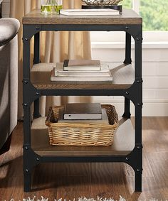 Love this Coffee Trenton End Table by Crosley on #zulily! #zulilyfinds