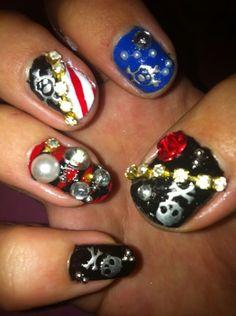 Lara's pirate nails