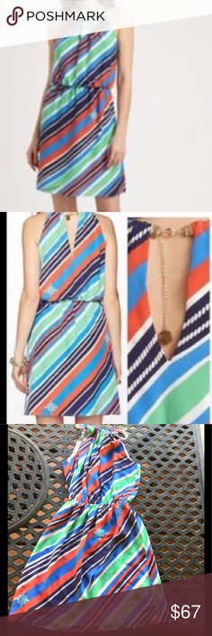 Lilly Pulitzer Kennett overboard stripe dress Lilly Pulitzer Kennett stripe overboard dress in a size small.  Worn once.  EUC Lilly Pulitzer Dresses