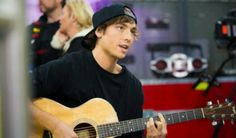 Wes playing guitar