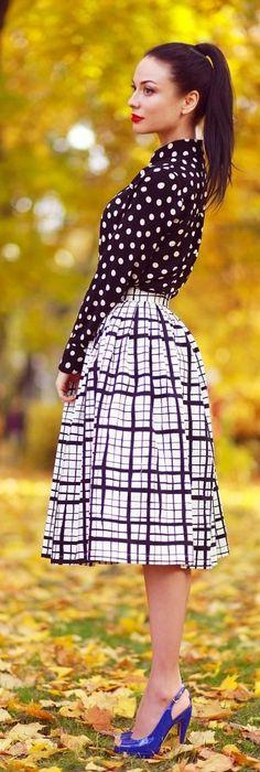 Inspiration | Classic prints; polka dots and monochrome checks.