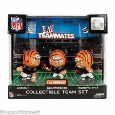 Cincinnati Bengals Lil Teammates Quaterback, Running Back, Lineman Team Set Visit our ebay Store  www.thesportszonetoo.com