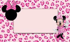 Imprimibles gratis de Minnie Mouse en tonos rosa