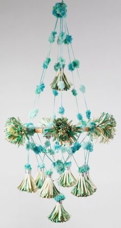 Parcel European Styled Paper Pouf Pom Pom Chandeliers Available in 5 Colors | eBay