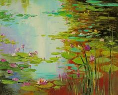 Buy Pond, Oil painting by Olha Darchuk on Artfinder. Discover thousands of other original paintings, prints, sculptures and photography from independent artists.