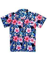 Virgin Crafts Hawaiian Shirt for Men Boys Women Short Sleeve Beach Aloha Summer